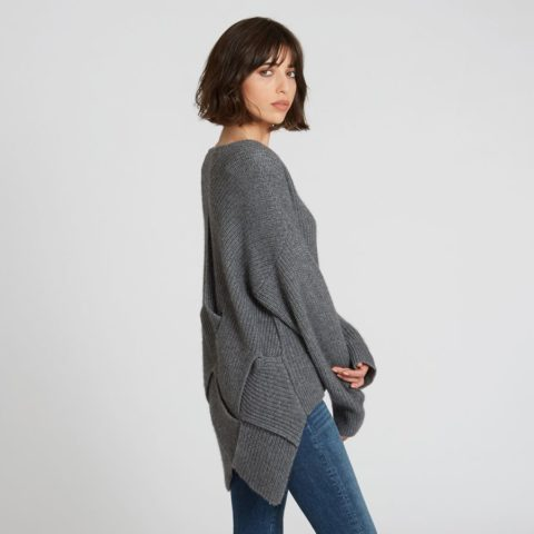 2c2eb241e11 ... Autumn Cashmere Woven Back Crew available in Ebony ...