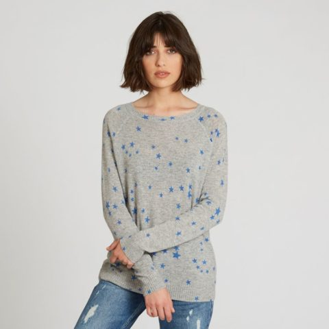 b5e32ffb25c ... Autumn Cashmere Star Print Cashmere Sweater in Sweatshirt ...
